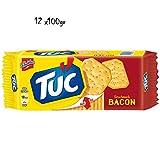12x TUC Bacon Salzgebäck Kekse Crackers Salz gesalzen gebäck Schinken 100g