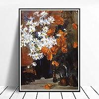 花の絵画プリント北欧スタイルのポスターホームウォールアート廊下壁の写真リビングルームクラシックな装飾キャンバスアートワーク40x60cmフレームレス