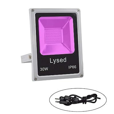 Lysed 30W UV LED Black Floodlight, High Power 8...