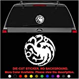 House Targaryen Game of Thrones Die Cut Vinyl Decal Sticker for Car Truck Motorcycle Vehicle Window Bumper Wall Decor Laptop Helmet Size- [6 inch] / [15 cm] Wide || Color- Gloss Black