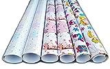 artwelten Home & Style Geschenkpapier Baby Geschenk Verpackung für Kinder 6 Rollen 1m x 70cm Geschenkpapierset zur Geburt