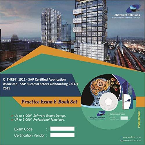C_THR97_1911 - SAP Certified Application Associate - SAP SuccessFactors Onboarding 2.0 Q4 2019 Complete Exam Video Learning Solution Set (DVD)