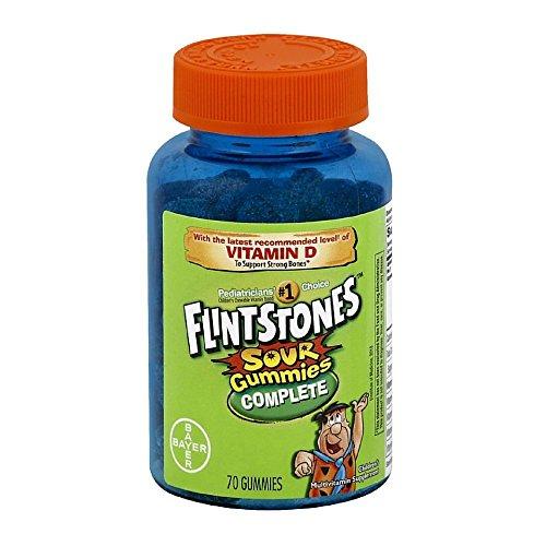 Flintstones Sour Gummies, 70 Count (Pack of 2)