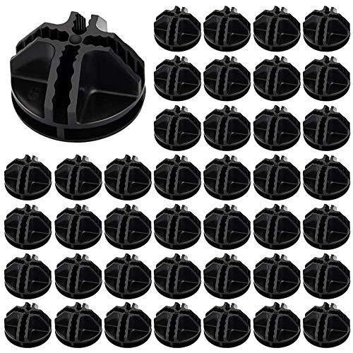 ManLee Conectores Armario Modular 40pcs Conectores de Plástico de Cubo de Alambre para Accesorios Armario Modular Rejilla Estantería Organizador de Armario Cierre Hebilla Clip Negro 3.7x3.7cm
