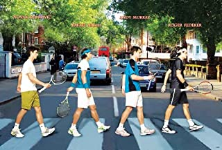Novak Djokovic,nadal,andy Murray ,Federer Tennis Poster - Rare New - Image Print Photo
