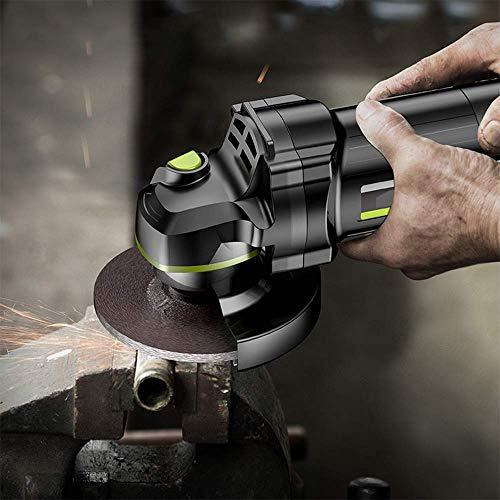 XIONGDA 125 Mm Leichter Bürstenloser Winkelschleifer, 1000 W Hochleistungs-Handschleifer, 25 Zubehörteile, Geschwindigkeit: 12.500 U/Min, Geeignet Für Holz- Und Keramikfliesen