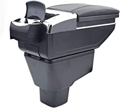 Oneuda Armrest Box for 2006-2018 Suzuki SX4, Universal Retractable Armrest Rotatable Center Console Storage Box with Cup Holder and Removable Ashtray