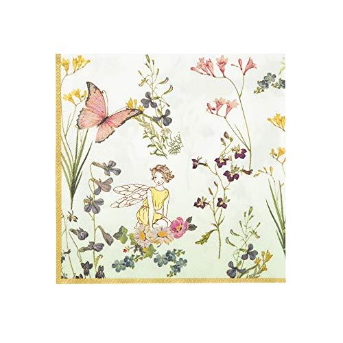 Talking Tables Truly Fairy; pappersservetter för födelsedagsfester eller tedrycker, färgglada; 33 cm (20 per förpackning)