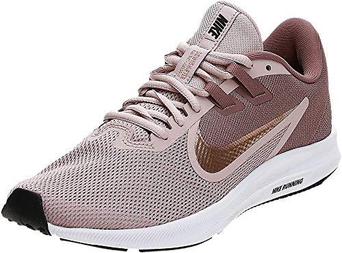 Nike Womens Downshifter 9 Running Shoe, Smokey Mauve/MTLC Red Bronze-Stone Mauve, 40.5 EU