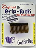 Good Hair Days The Original Grip-Tuth Hair Combs, Set of 2, 40163 Shorty 1 3/4' Wide