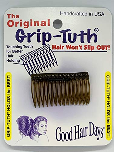 Good Hair Days The Original Grip-Tuth Hair Combs, Set of 2, 40163 Shorty 1 3/4