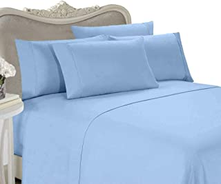 Egyptian Bedding Luxurious Rayon from Bamboo Sheet Set - Queen Size Blue 1500 Thread Count Cotton Sheet Set