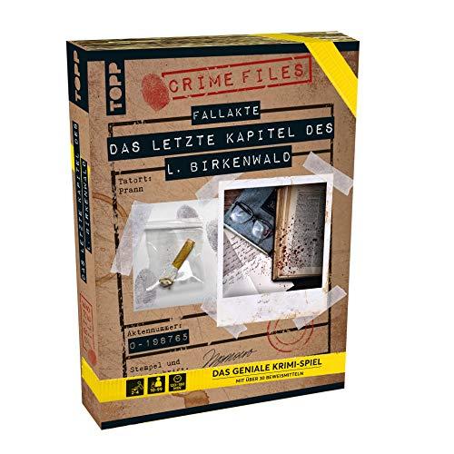 Crime Files Fallakte Das letzte Kapitel des L. Birkenwald: Das geniale Krimi-Spiel für alle Wohnzimmer-Ermittler mit Aktenmappe und echten Beweismitteln (Größe ca: 32 x 23 x 4 cm)