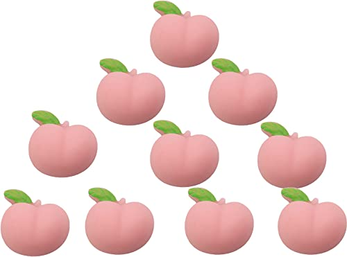 high quality RiamxwR 10 Pcs Mochi Peach Toys Mochi Stress Relief Toys Mini Pink Peach Fruits Squeeze Funny Mochi Toy Soft outlet online sale Stress and new arrival Anxiety Relief Toys DIY Decor online