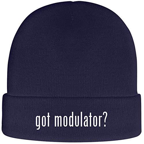 One Legging it Around got Modulator? - Soft Adult Beanie Cap, Navy