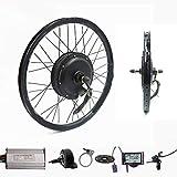 Wenhu Kit de Conversion de vélo électrique de kit de vélo électrique de Moteur de Roue arrière de 70Km / H 72V 2000W,20inch