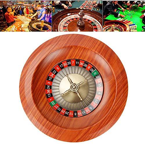 achievr 12-Zoll Wettrad aus Holz der russischen Casino-Klasse, Desktop-Requisiten Holz Tischspiel Gewinnspiel Roulette