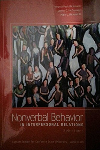 Compare Textbook Prices for By Virginia Peck Richmond - Nonverbal Behavior in Interpersonal Relations: 7th seventh Edition 21605th Edition ISBN 9781256938361 by aa