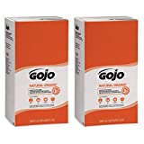 GOJO NATURAL ORANGE Pumice Hand Cleaner, 5000 mL Quick Acting Lotion Hand Cleaner Refill for GOJO PRO TDX Dispenser (Pack of 2) - 7556-02,White