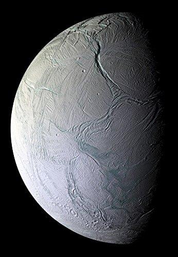 Posterazzi Saturn's moon Enceladus Poster Print, (23 x 34)