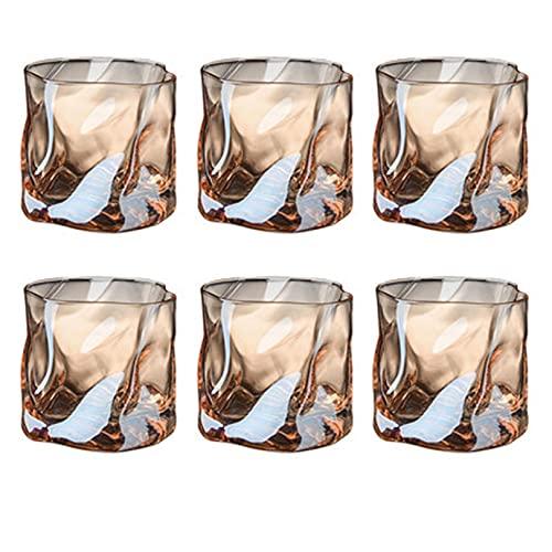YIA Vidrio Transparente, cristalería Elegante, Taza de Whisky de Lujo Ligero, Juego para el hogar, Agua Potable, Cerveza, Vasos de Colores 380ml D