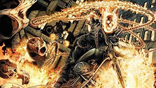 JDFKK 1000-Teiliges Puzzle Erwachsene Stressabbau Kinder Intellektuelle Spiele Ghost Rider-Johnny Blaise Rache Jäger Abenteuer Aus Holz Mehrfarbig Personalisieren