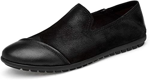 Hhor 2018 Chaussures pour Homme en Cuir véritable, véritable, Chaussures de Ville décontractées pour Le Travail et Les Affaires, Peau de Vache, Noir, 43 (Couleuré   comme montré, Taille   Taille Unique)  vente chaude en ligne