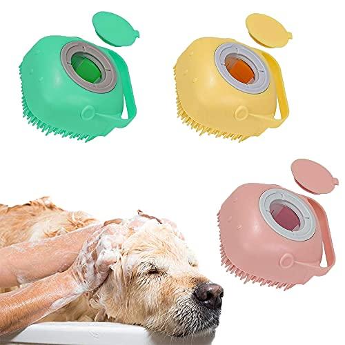 Kamenda Spazzola Morbida per Cani e Gatti, Pettorina da Bagno in Silicone per Animali Domestici, Massaggiatore per Cani e Gatti