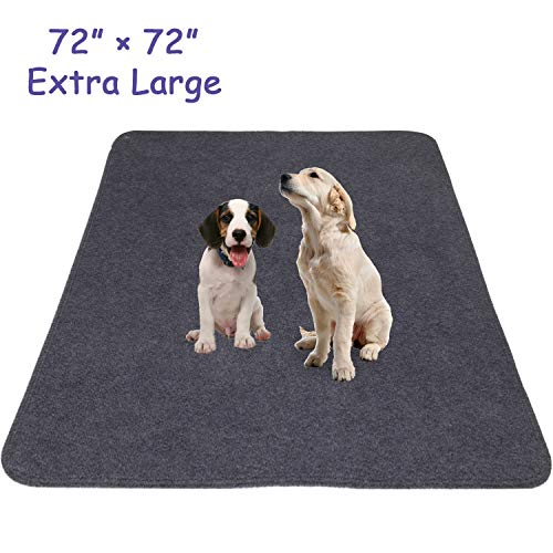 Snagle Paw Extra Large Dog Pee Pads 72' x 72', Non-Slip Puppy Pee Pads with Waterproof, Quick...