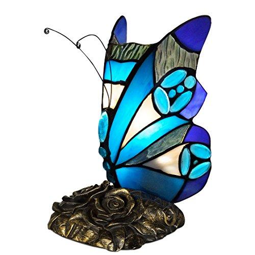 World Art TW60007 Lampes Style Tiffany, Multicolore, 22x12x16 Cm