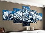 Acrylglasbilder 5 Teilig 200x100cm Mount Everest Himalaya