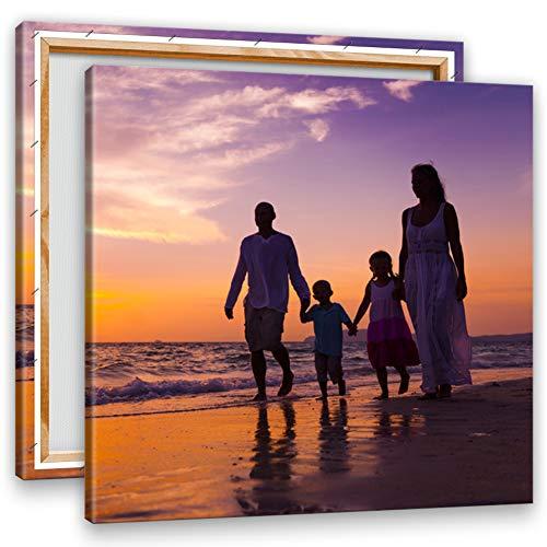 Preisvergleich Produktbild Ihr Foto auf Leinwand 40x40 cm SOFORT ONLINE Upload Ihr eigenes Bild auf Leinwand mit Keilrahmen - Wandbild mit Wunschmotiv - Persönliches Kunstdruck