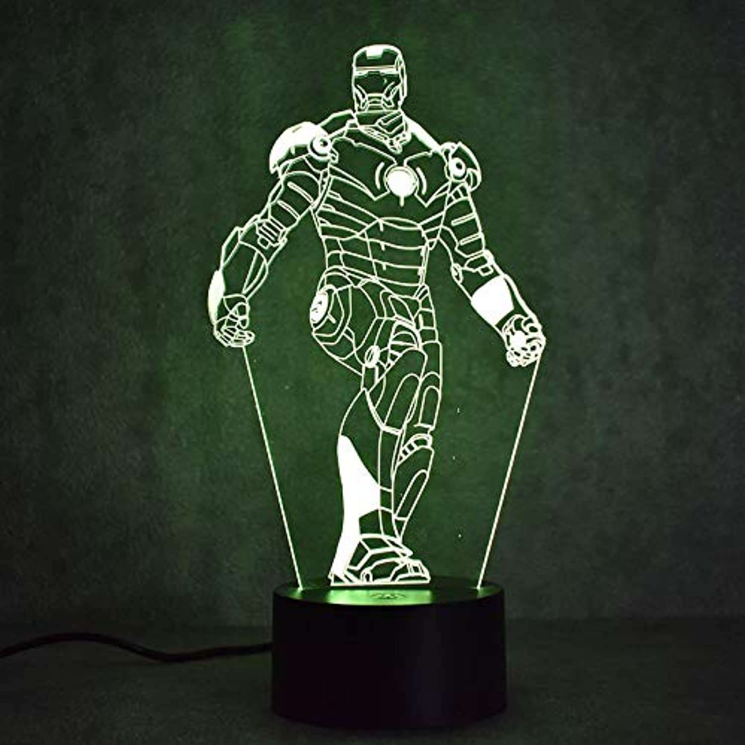 Fsewfs Iron Man 3D Led colorful Night Light Table Lamp for Bedroom Bedside Baby Sleeping Lighting Light Figure Lamp Kids Gifts