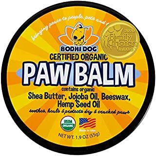 USDA Certified Organic Paw Balm for Dogs & Cats | 2/4/8oz | All Natural Soothing & Healing for Dry Cracking Rough Pet Skin...