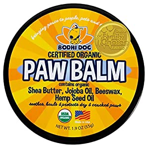 USDA Certified Organic Paw Balm for Dogs & Cats | 2/4/8oz | All Natural Soothing & Healing for Dry Cracking Rough Pet Skin | Protect & Restore Cracked and Chapped Dog Paws & Pads | Better Than Paw Wax