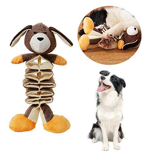 Eastlion Hundespielzeug Quietschspielzeug für Hunde,Interaktiv Plüschspielzeug für Langeweile Spielen,Haustier Kauspielzeug,Zahnreinigung IQ-Training für Kleine Mittlere Hunde Katzen(Känguru)