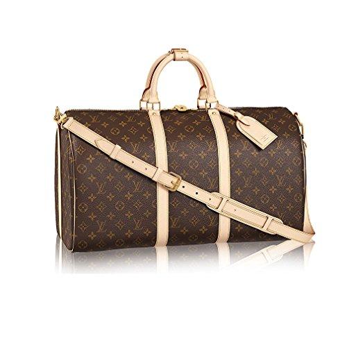 Louis Vuitton Monogram Canvas Cross Body Handle Keepall Bandoulière 50 Article:M41416