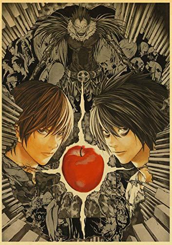 Lovmo Death Note Anime 5D Pintura de Diamantes, Mosaico, Bordado de Diamantes, Diamantes de imitación Cuadrados de Cristal, decoración de Pared de Regalo(Cuadrado 50x60cm)