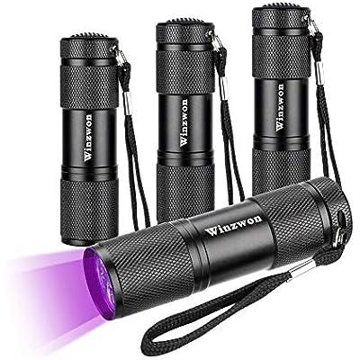 Winzwon UV Torch 2 Pack UV Flashlight Ultraviolet Torch Black Light Flashlight /&