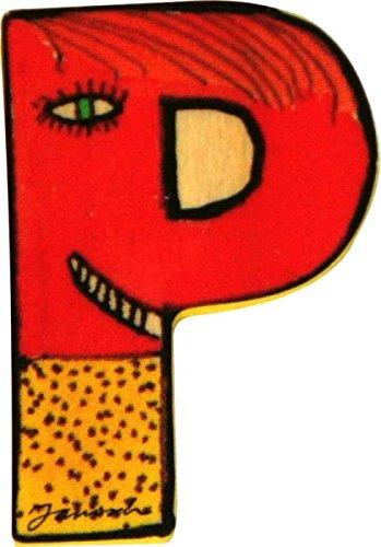 Janosch Holzbuchstabe P farblich sortiert