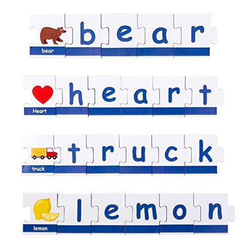 coil-c Phonics - Juego de ortografía para niños, para ver y escribir a la mitad, incluye 4 juegos para jugar