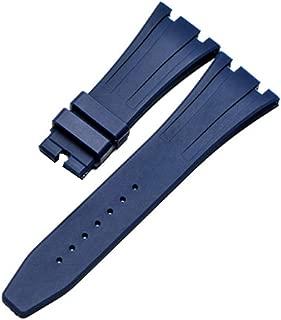 28mm Rubber Watch Strap Band with Buckle Clasp for Audemars Piguet Royal Oak Offshore 15703 AP100