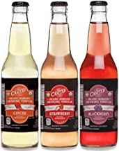 Organic Sparkling Drinking Vinegars - 12 pack - 3 flavors (Blackberry, Strawberry, Ginger). Get your daily fix of Organic Apple Cider Vinegar in a great tasting, low calorie sparkling beverage.