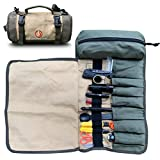 ROARING FIRE Armadillo Mini Water Resistant Tool Roll Organizer, Wrench Organizer & Tool Pouch, Roll Up Tool Bag for Electrician, HVAC, Plumber, Geargeekers, Carpenter or Mechanic (Light FDE)