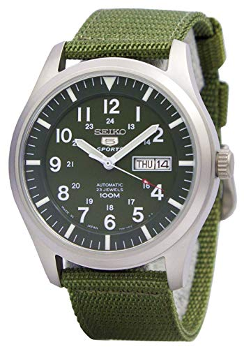 Seiko 5 Green Military Automatic SNZG09J1
