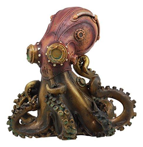 Ebros Steampunk Giant Kraken Octopus Marauder Statue 5.5