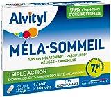 Alvityl - Gélules Méla-Sommeil - Mélatonine+3 plantes+vitamine B6 - Triple action sur le sommeil et la relaxation - 30 gélules