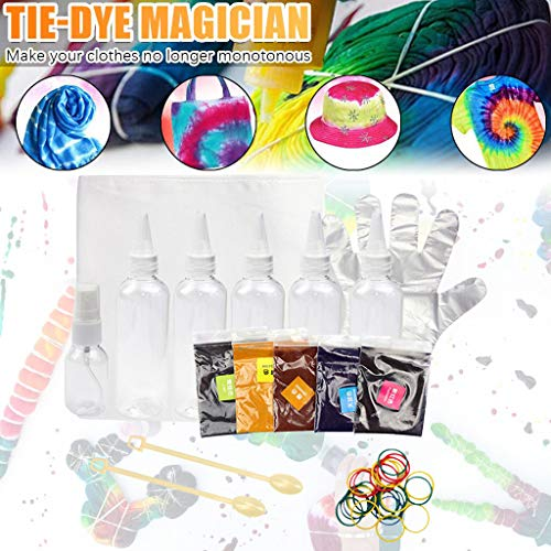 One Step Tie-Dye Kit, Fabric Textile Muti-Color Easy-Squeeze Dyes Bottles, Graffiti Fabric Perfect for Solo Projects/Family Fun,FANSIREN Tie-dye Set Gift Boxed Family Clothing Handmade DIY Set