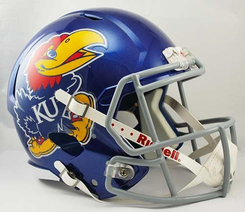 NCAA Kansas Jayhawks Full Size Speed Replica Helmet, blueee, Medium