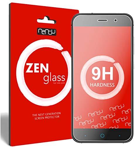 ZenGlass (2 Stück Flexible Glas-Folie kompatibel mit ZTE Blade V6 Panzerfolie I Bildschirm-Schutzfolie 9H I (Kleiner Als Das Gewölbte Bildschirm)